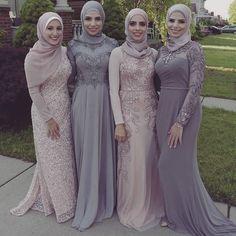 Matching Hijab and Abaya Will Look Absolutely Stunning – Girls Hijab Style & Hijab Fashion Ideas Hijab Gown, Hijab Dress Party, Abaya Mode, Mode Hijab, Abaya Fashion, Muslim Fashion, Beautiful Hijab, Beautiful Outfits, Stunning Girls
