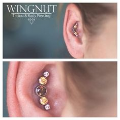 I did this fun conch today using another rad cluster from Anatometal! (at Wingnut Tattoo and Body Piercing) Unique Piercings, Conch Piercings, Body Piercings, Piercing Tattoo, Feminine Tattoos, Piercing Ideas, Body Mods, Body Art Tattoos, Tattos