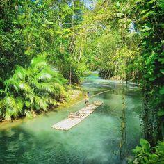 The Martha Brae River in Trelawny, Jamaica