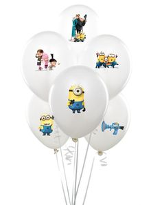 Despicable me Balloon stickers INSTANT by MyHeartnSoulBoutique, $5.65
