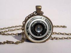 Camera Necklace Camera Lens Jewelry Camera Art by LePetitPanda, $12.95