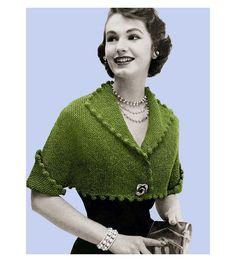 Vintage tejer patrón 1950s Pom Pom recortada por 2ndlookvintage