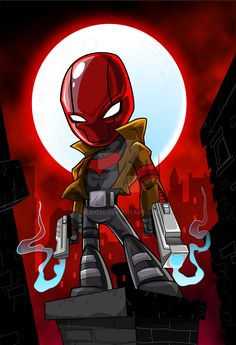 Red Hood by kudoze on DeviantArt Dc Comics Superheroes, Dc Comics Art, Chibi Characters, Marvel Characters, Chicano, Red Hood Wallpaper, Rogue Comics, Chibi Marvel, Red Hood Jason Todd