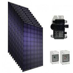 Kit solaire autoconsommation Panasonic 3000 W 6000 W 9000 W Orientation, Kit, Composition, Construction, Play, Portrait, Solar Powered Heater, Connection, Index Cards