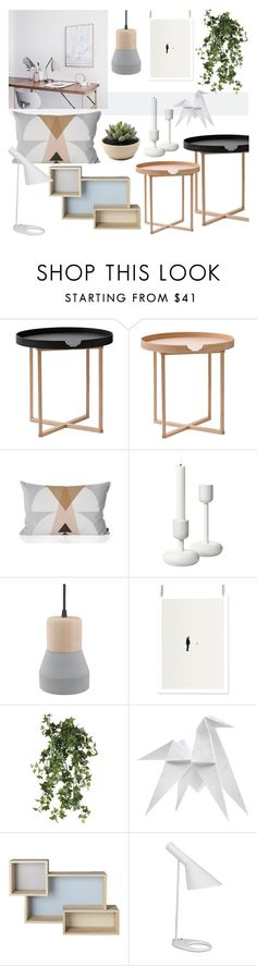 """""""Nordic Pastel"""" by sofiehoff ❤ liked on Polyvore featuring interior, interiors, interior design, home, home decor, interior decorating, .wireworks, ferm LIVING, Dot & Bo and OKA"""