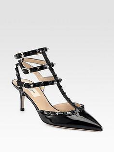 Valentino - Punkouture Studded Patent Leather Pumps - Saks.com