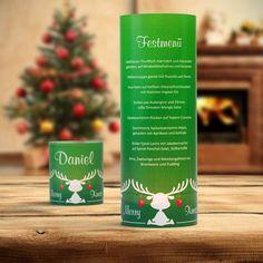 #Weihnachtsdeko #Christmas #Windlicht Menükarte Elchegrün: https://www.meine-hochzeitsdeko.de/windlicht-weihnachten-menuekarte-elche