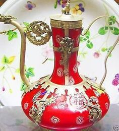 ❤❤Chinese tibet Dragon red porcelain teapot in Collectables, Decorative Ornaments/ Plates, Collector Teapots | eBay
