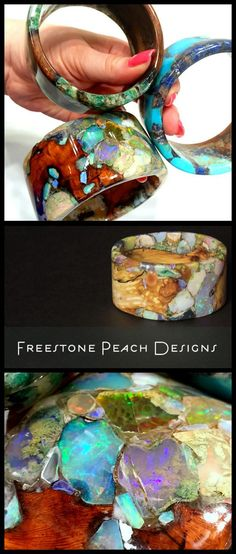 Freestone Peach Designs - gorgeous, one of a kind pieces made from natural wood and gemstones.