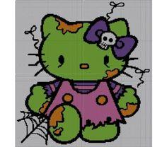 Zombie Hello Kitty Crochet Pattern Afghan Graph  $5.50