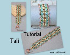 Tali Superduo Rulla Beadwork Bracelet PDF Tutorial por Lirigal
