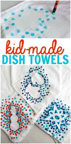 kid made dish towels kid made christmas giftsgrandparents