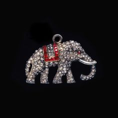 Ruby and Diamond Elephant Pendant. Faerber Collection, Rare Antique Jewellery and Exceptional Gemstones. Old Jewelry, Antique Jewellery, Pendant Jewelry, Jewelry Art, Jewelry Ideas, Fine Jewelry, Jewelry Necklaces, Elephant Jewelry, Elephant Necklace