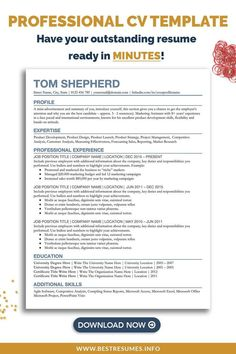 Transform your old CV and get noticed by hiring managers! This modern student CV template offers the best student CV layout and CV format. Open in Google Docs, edit as you like, and apply to jobs. No need to install any font for this student CV template. Free CV cover letter and references page are included in the CV package. You also get a CV checklist with CV tips and CV help. Use as a manager, business, or student CV example. Cv Template Student, Resume Cover Letter Template, Cover Letter For Resume, Best Cv Layout, Student Cv Examples, Cv Format For Job, Cv Inspiration, Cv Tips, Curriculum Vitae