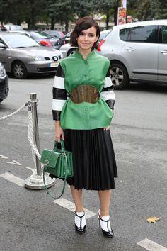 Miroslava Duma - PFW: Arrivals at Celine