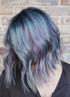 Denim Hair Colors #denimhair #bluehair