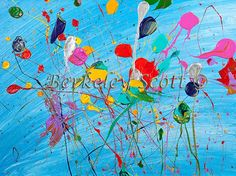 """""""Worldwide Celebration""""  18x24""""  Acrylic on Canvas  By Berkeley Scott  www.Berkeleyscottart.com     Freedom to celebrate untied as one. Balloons represented from all over the world, flowing vividly through a crystal clear sky."""