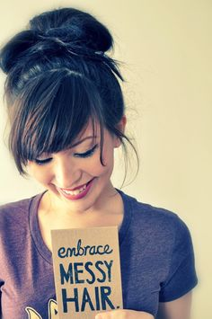 Love her bangs, and she has such a cute smile :)
