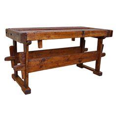 old French chestnut workbench 19th century #workbench