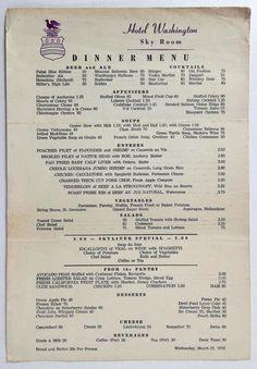 Cream of chestnut soup with potimarron - Healthy Food Mom Vintage Restaurant, Menu Restaurant, Hotel Menu, Vintage Menu, Vintage Recipes, World Recipes, Gourmet Recipes, Booyah Recipe, Washington Dc Restaurants
