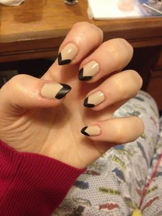 Barry M lychee and matte black stiletto nails