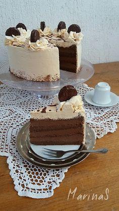 Dacina čokoladna torta – MarinaS Taste Torte Recepti, Kolaci I Torte, Cupcake Recipes, Dessert Recipes, Baking Recipes, Carrot Cake Decoration, Angel Food Cupcakes, Magic Custard Cake, Torte Cake