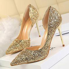Women Pumps Sexy Glisten Women Shoes Wedding Party Dress Heels Women H – US  MART NEW 8801fe06e5c6