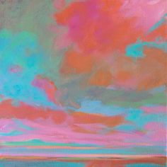 """Colorful art for any space – 8x8 original canvas – """"Interlude"""" 