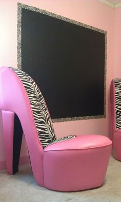 Magnetic Chalk Wall U0026 High Heel Chairs!