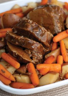 Melt-in-Your-Mouth Slow Cooker Pot Roast - Serves 6 to 8