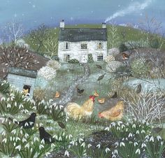 Suffolk artist illustrator Lucy Grossmith is Heart To Art. Limited edition prints and paintings of Suffolk countryside and coast for sale, private commissions Art And Illustration, Henri Rousseau, Chicken Art, Naive Art, Winter Garden, Prints For Sale, Painting Inspiration, Painting & Drawing, Folk Art