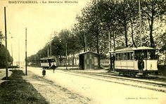 Montfermeil Barriere Blanche vers 1900 vue prise sur l'actuelle ave Jean Jaures