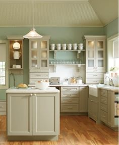 Martha Stewart Kitchen Paint Colors   ... : My new kitchen! Paint - Martha Stewart Ocean Floor. Love the pulls