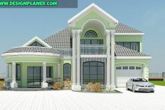 Designed Home Plans - A Turn-key Construction Services Brick House Designs, Bungalow House Design, House Front Design, Modern House Design, My House Plans, Luxury House Plans, Modern House Plans, Beautiful House Plans, Beautiful Houses Interior