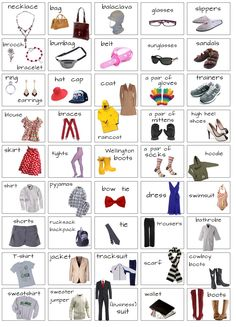 "To revise previous entries, click the ""Clothes"" label More practice: 1 , 2 , 3 , 4 , 5 , 6 , 7 , 8 , 9 , 10 , 11 , 12 , 13 , 14 ..."