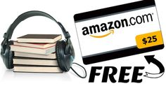No Brainer! FREE $25 Amazon Credit For Prime Members (Just Join Audible for $14.95)