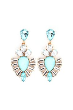 Kimmie Earrings in Blue Opalescence on Emma Stine Limited These are so cute. I really want a pair.