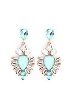 Kimmie Earrings in Blue Opalescence