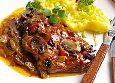 Juicy neck steaks from the oven-Saftige Nackensteaks aus dem Backofen Juicy neck steaks from the oven Pork Tenderloin Recipes, Pork Recipes, Cooking Recipes, Pork Meat, Czech Recipes, Cheap Meat, Pork Dishes, Aesthetic Food, Food 52