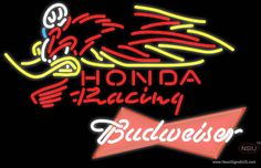 Budweiser Red Honda Racing Woody Woodpecker Crf   Real Neon Glass Tube Neon Sign,Affordable and durable,Made in USA,if you want to get it ,please click the visit button or go to my website,you can get everything neon from us. based in CA USA, free shipping and 1 year warranty , 24/7 service