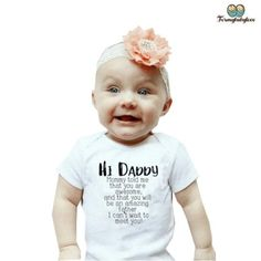 Joyeuse Fête des pères papa maman dit que vous êtes Bienvenue Garçons Bébé Veste Grow Body New