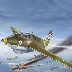 . . . . O Messerschmitt Me 163 Komet , foi o primeiro e único avião de combate movido exclusivamente por um motor de foguete,...