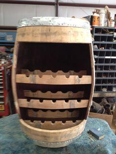 Wine Barrel Stave Wine Rack by WyldatHeartCustoms on Etsy