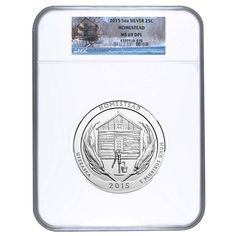 2015 5 oz America the Beautiful ATB Silver Homestead National Park Coin NGC MS 69 DPL | Bullion Exchanges