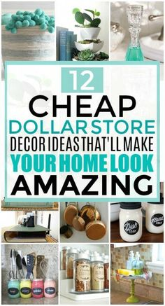 Vintage Decor Diy These Dollar Store Decor Hacks are THE BEST! I'm so glad I found these GREAT home decor ideas and tips! Now I have great ways to decorate my home a a budget and decorate on a dime! Pot Mason Diy, Mason Jar Crafts, Mason Jars, Diy Home Decor Projects, Home Improvement Projects, Decor Ideas, Craft Ideas, Dyi Decorations, Dollar Store Crafts