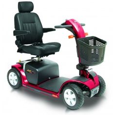 Pride Colt Plus (High Back Seat) Mobility Scooter (Red Or Blue)