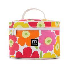 Marimekko Orange/Pink Unikko Kinto Oval Cosmetic Box $75.00