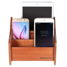 KKMOON Wooden Stand All in 1 Smartphone Tablet Charging Display Dock Station Cradle Bracket for HUAWEI Mate 7 8 P8 Honor 7 Samsung S6 S6 edge S7 S7 edge iPhone 6 6 Plus 6S 6S Plus iPad mini air