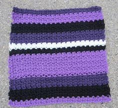 Every year, I make an afghan using granny squares and ripples (my grandmother's two favorite afghans), and my mom & I sell raffle tickets to raise money for Alzheimer's Research.