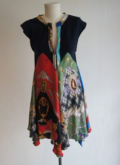 recycled silk scarves dress - Google Search